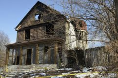 Fire damaged house2 Royalty Free Stock Photo