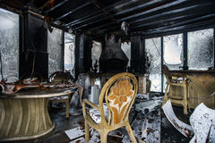 Fire damaged interior details Stock Photography