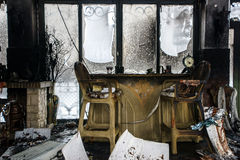 Fire damaged interior details Royalty Free Stock Photography