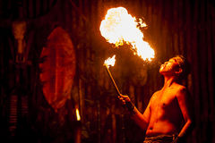 Fire Dancer Royalty Free Stock Photos