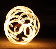 Fire Dancer in the dark royalty free stock photos