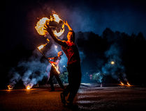 Fire Dancer Royalty Free Stock Images
