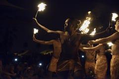 Fire dancer Stock Photography