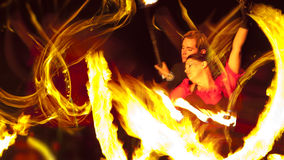 Fire Dancers Royalty Free Stock Photo
