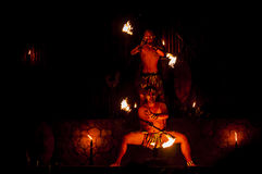 Fire Dancers Royalty Free Stock Image
