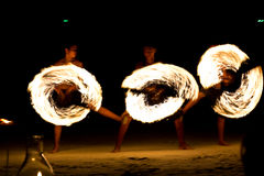 Fire dancing. Royalty Free Stock Photos