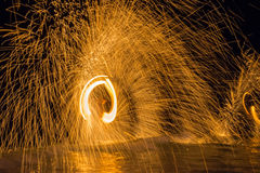 Fire dancing Royalty Free Stock Photo