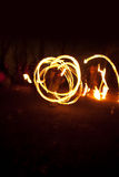 Fire dancing street performers Royalty Free Stock Photo