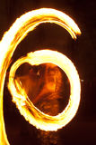 Fire dancing street performers Royalty Free Stock Photos