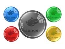Fire danger ,button, 3d illustration. Fire danger ,button,best 3d illustration Royalty Free Stock Photos
