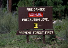 Fire Danger Extreme Sign Royalty Free Stock Photos