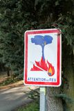 Fire danger road sign Stock Image