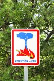 Fire danger road sign Stock Photos