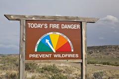 Fire danger roadside sign in Colorado Stock Images