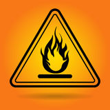 Fire Danger Safety Sign Icon. Flat Vector Illustration Royalty Free Stock Images