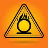 Fire Danger Safety Sign Icon. Flat Vector Illustration Stock Photos