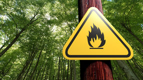 Fire danger Royalty Free Stock Image