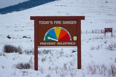 Fire Danger in the Snow Stock Photos