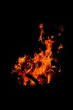 Fire in the dark Stock Photography