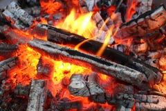 Fire in dark six Stock Image