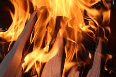 Fire in dark two Stock Photography