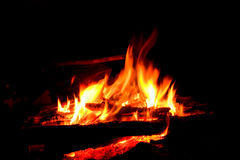 Fire in darkness Stock Photos