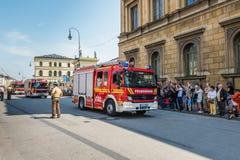 Fire Day Parade - Odeonsplatz - Munich, Germany Royalty Free Stock Photo
