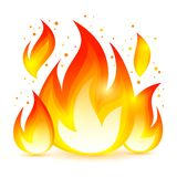 Fire Decorative Icon Royalty Free Stock Photo