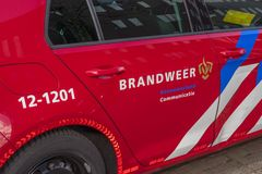 Fire Deparment Car At Amsterdam The Netherlands 2019.  stock images