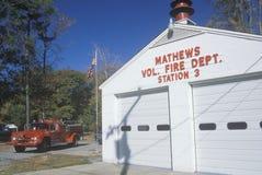 Fire Department. In Mathews, Virginia stock photography