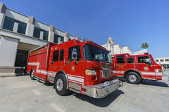 Fire department around Beverly Hills city hall Stock Photo