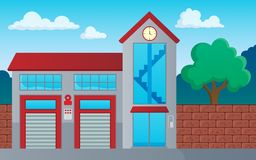 Fire department building theme image 1. Eps10 vector illustration Royalty Free Stock Photos