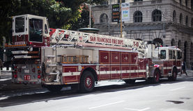 Fire department car. In San Francisco royalty free stock image