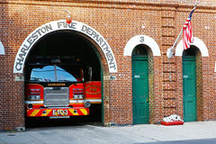 Fire department in Charleston downtown Royalty Free Stock Image