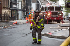 Fire Department of the City of New York FDNY. NEW YORK, USA - May 02, 2016: Fire Department of New York City provides fire protection, technical rescue, primary Stock Photography