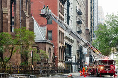 Fire Department of the City of New York FDNY. NEW YORK, USA - May 02, 2016: Fire Department of New York City provides fire protection, technical rescue, primary Stock Photo