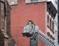 Fire Department of the City of New York FDNY. NEW YORK, USA - May 02, 2016: Fire Department of New York City provides fire protection, technical rescue, primary Royalty Free Stock Photos