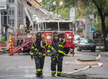 Fire Department of the City of New York FDNY. NEW YORK, USA - May 02, 2016: Fire Department of New York City provides fire protection, technical rescue, primary Stock Photos