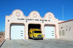 FIRE DEPARTMENT. Clark County Nevada Fire Department and ambulance stock image