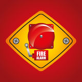 Fire department design Royalty Free Stock Photography
