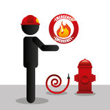 Fire department design. Fire departament design,  illustration eps10 graphic Stock Images