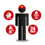 Fire department design. Fire departament design,  illustration eps10 graphic Royalty Free Stock Image