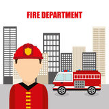 Fire department design Royalty Free Stock Photos