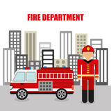 Fire department design Stock Photography