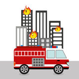 Fire department design Royalty Free Stock Image