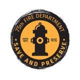 Fire department grunge label vector illustration