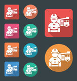 Fire department icon, vector flat icon Stock Image