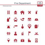 Fire Department icons set. For web design and application interface, also useful for infographics. Vector illustration Royalty Free Stock Photo