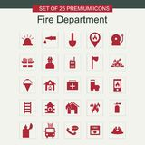 Fire Department icons set. For web design and application interface, also useful for infographics. Vector illustration Stock Image