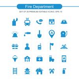 Fire Department icons set. For web design and application interface, also useful for infographics. Vector illustration Royalty Free Stock Images